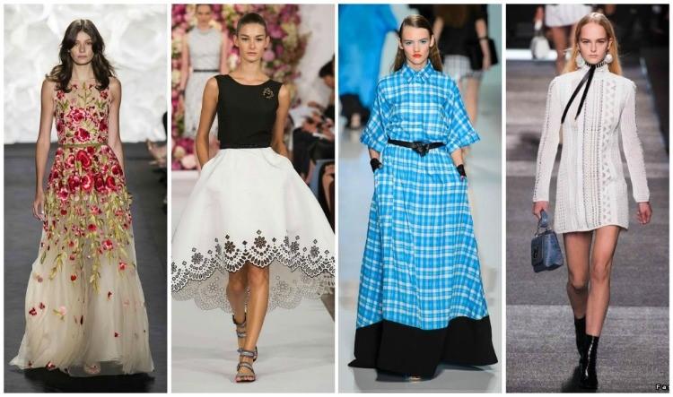 528cfb1512e Модные тенденции платьев 2016  фасоны